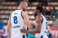 Rosa Radom Robert Witka and Kevin Punter during Basketball Champions League between Estudiantes and Rosa Radom at Jorge Garbajosa Sport Center in Madrid, Spain October 18, 2017. (ALTERPHOTOS/Borja B.Hojas)