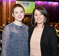 Emer O'Toole London and Siobhan Glynn Barna at the Radisson Blu Hotel for Galway 1st ever Choir Factor in aid of Kilcuan Retreat and Healing Centre in Clarinbridge, Co. Galway. The event organised by the Corrib Lions Club was won by the Marine Institute Choir directed by Carmel Dooley. Picture:Andrew Downes