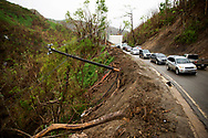 NARANJITO, PUERTO RICO - OCTOBER 10, 2017 - As they stuggle to restore power in the island, residents along road PR-152 in Naranjito, Puerto Rico now have to deal with dangerous landslides too. The center of Hurricane Maria passed over this region and cause some of the most extensive damage .(Photo/Jos&eacute; Jim&eacute;nez) Through the Iris of Hurricane Mar&iacute;a<br />