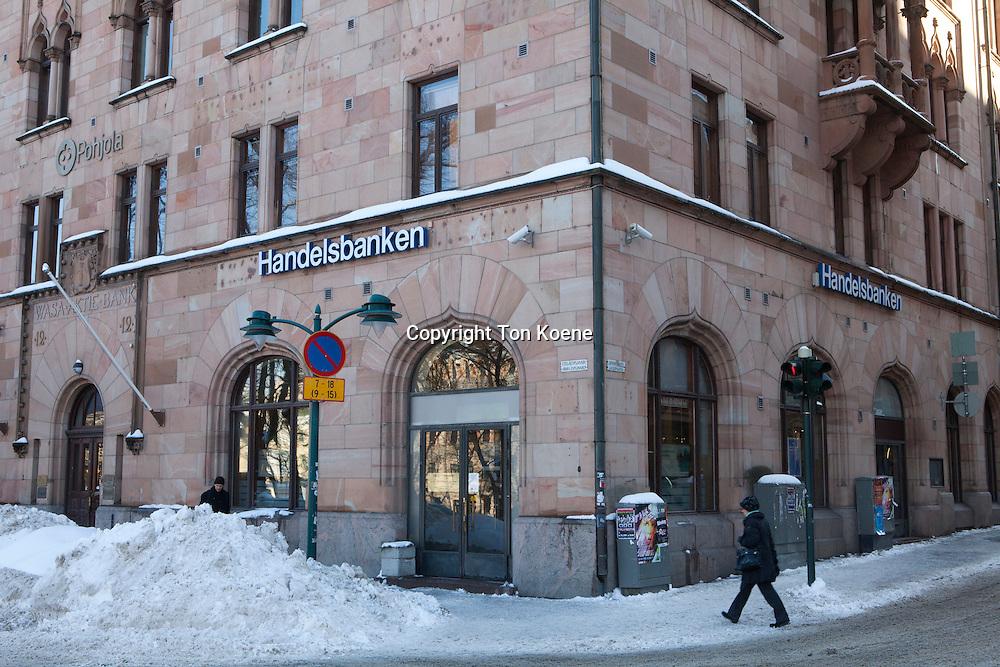 Bank in downtown Helsinki
