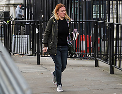 © Licensed to London News Pictures. 03/10/2019. London, UK. SHELLEY WILLIAMS-WALKER, head of operations at 10 Downing Street, is seen arriving at Downing street in Westminster, London. British Prime Minister Boris Johnson had sent a new Brexit proposal to the EU ahead of an EU summit later this month. Photo credit: Ben Cawthra/LNP