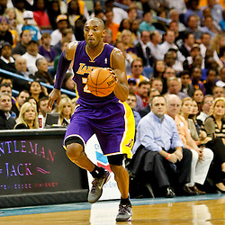 Dec 5, 2012; New Orleans, LA, USA; Los Angeles Lakers shooting guard Kobe Bryant (24) against the New Orleans Hornets during the second half of a game at the New Orleans Arena. The Lakers defeated the Hornets 103-87.  Mandatory Credit: Derick E. Hingle-USA TODAY Sports