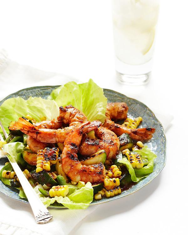 BBQ Shrimp, Corn and Zucchini Salad