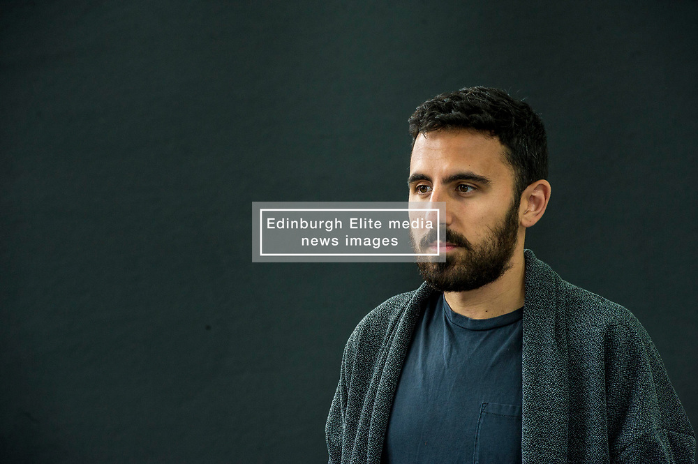Pictured: Omar Robert Hamilton is a filmmaker and founding member of activist media collective Mosireen in Cairo<br /> Book fanatics headed to Charlotte Square in Edinburgh which is the hub of the international Book Festival to meet the authors and also to meet up with fellow fans of the printed word.<br /> <br /> <br /> Ger Harley | EEm 18 August 2017