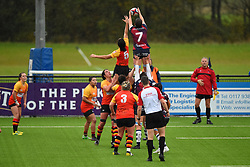 Poppy Leitch of Bristol Bears Women in action in the line out - Mandatory by-line: Paul Knight/JMP - 26/10/2019 - RUGBY - Shaftesbury Park - Bristol, England - Bristol Bears Women v Richmond Women - Tyrrells Premier 15s