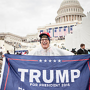 """Tom Mendenhall, traveled from Columbia, MO, to watch the Inauguration of Donald Trump as the 45th President of the United States, January 20, 2017.  When asked about his hopes for the Trump administration, he lamented, """"...rules and regulations are really hurting business...we spent 4 trillion dollars on wars with nothing to show for it...we didn't even take the oil!""""  John Boal Photography"""