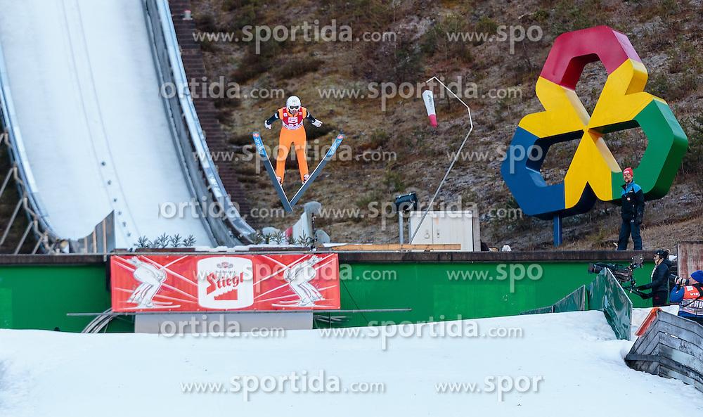20.12.2015, Nordische Arena, Ramsau, AUT, FIS Weltcup Nordische Kombination, Skisprung, im Bild Lukas Klapfer (AUT) // Lukas Klapfer of Austria during Skijumping Competition of FIS Nordic Combined World Cup, at the Nordic Arena in Ramsau, Austria on 2015/12/20. EXPA Pictures © 2015, PhotoCredit: EXPA/ JFK