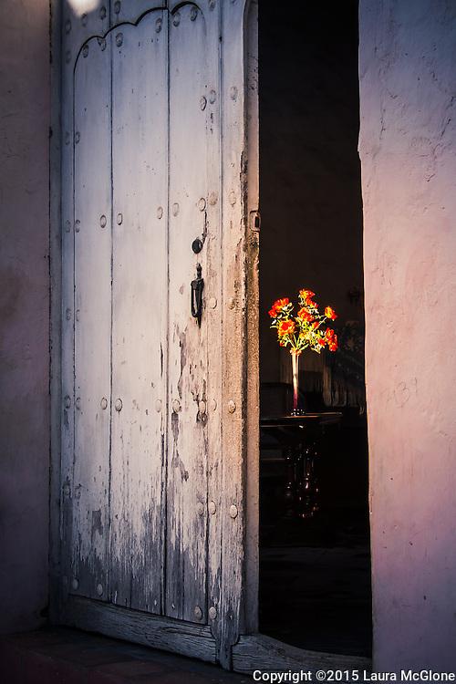 Doorway with Flowers inside, Trinidad Cuba