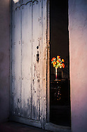 Doorway with Flowers inside, Trinidad Cuba