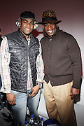 l to r: Michael Crabtree and Deon Sanders at The Sixth Annual ESPN Pre-Draft Party held at Espace on April 24, 2009 in New York City