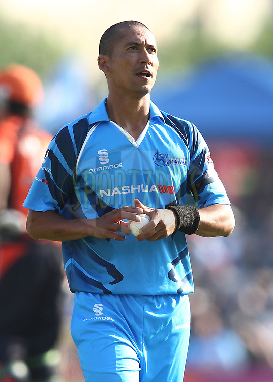 Alfonso Thomas of the Titans during match 1 of the Karbonn Smart CLT20 South Africa between The Titans and The Perth Scorchers held at Supersport Park Stadium in Centurion, South Africa on the 13th October 2012..Photo by Shaun Roy/SPORTZPICS/CLT20