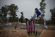 #117 (FANTONI Giacomo) ITA at the 2014 UCI BMX Supercross World Cup in Santiago Del Estero, Argentina.