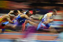 March 4, 2018 - Birmingham, England, United Kingdom - Andrew Pozzi ofGreat Britain  and Aries Merritt ofUnited States at  60 meters hurdles at World indoor Athletics Championship 2018, Birmingham, England on March 4, 2018. (Credit Image: © Ulrik Pedersen/NurPhoto via ZUMA Press)