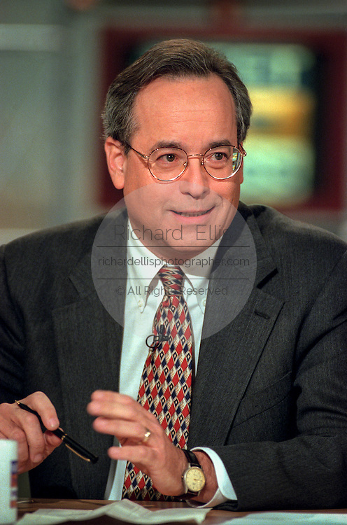 Political commentator Stuart Rothenberg discusses the upcoming elections during NBC's Meet the Press November 1, 1998 in Washington, DC.