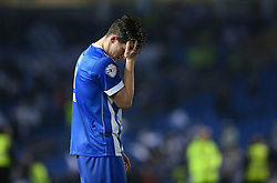 Lewis Dunk of Brighton & Hove Albion looks dejected after the match - Mandatory by-line: Paul Terry/JMP - 16/05/2016 - FOOTBALL - Amex Stadium - Brighton, England - Brighton and Hove Albion v Sheffield Wednesday - Sky Bet Championship Play-off Semi-final second leg