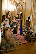 THE DEBUTANTES; ; The 2008 Crillon Debutante Ball. Getting Ready the Day before. Crillon Hotel. Paris. 29 November 2008. *** Local Caption *** -DO NOT ARCHIVE-© Copyright Photograph by Dafydd Jones. 248 Clapham Rd. London SW9 0PZ. Tel 0207 820 0771. www.dafjones.com.