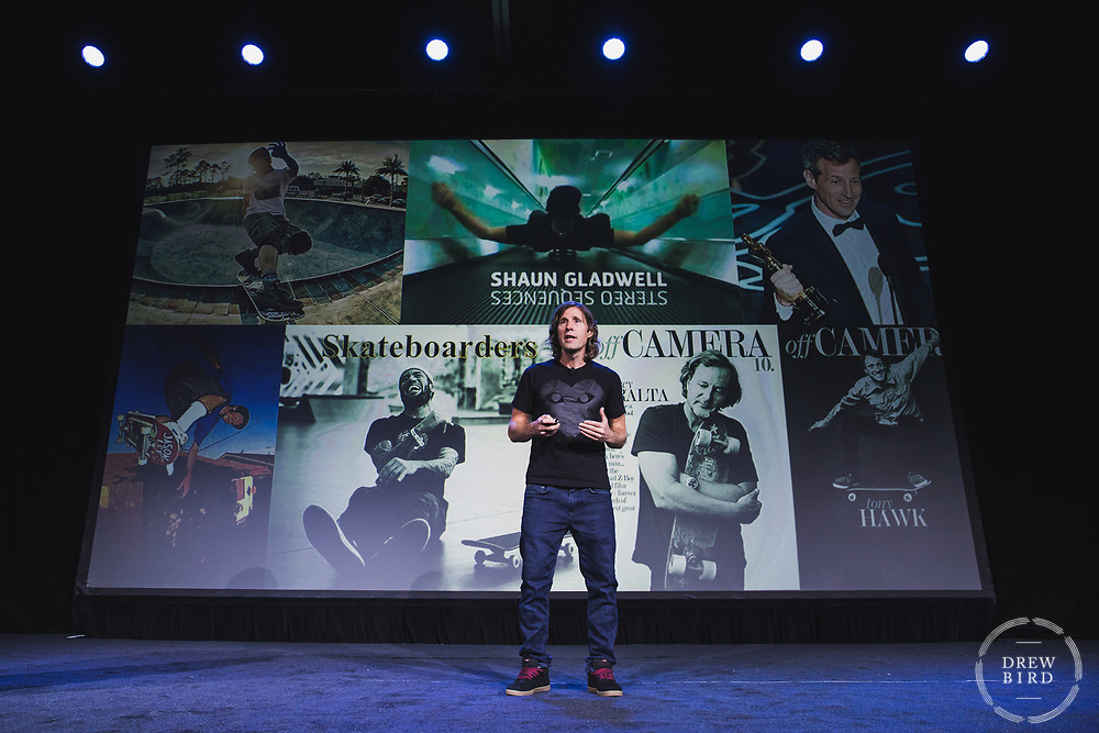 Rodney Mullen<br /> Godfather of Skateboarding<br /> Code For America Summit 2018<br /> Oakland, CA<br /> <br /> Drew Bird Photography<br /> San Francisco Bay Area Photographer<br /> Have Camera. Will Travel. <br /> <br /> www.drewbirdphoto.com<br /> drew@drewbirdphoto.com