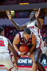 NORMAL, IL - January 07: Gaige Prim defended by Abdou Ndiaye during a college basketball game between the ISU Redbirds and the University of Missouri State Bears on January 07 2020 at Redbird Arena in Normal, IL. (Photo by Alan Look)
