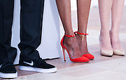 The heels of Zoe Saldana & Marion Cotillard attends the 'Blood Ties' photocall during the 66th Annual Cannes Film Festival at the Palais des Festivals on May 20, 2013 in Cannes, France..