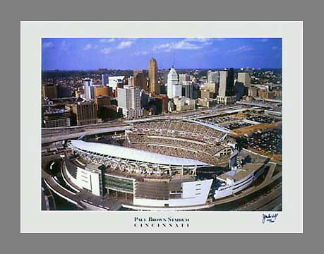 19x24 Poster of Paul Brown Stadium, home of the Cincinnati Bengals