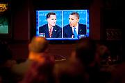 I en fullsatt meksikansk restaurant i Las Vegas overvar republikanere den tredje og siste presidentdebatten som ble sendt fra Lynn University i Boca Raton, Florida.