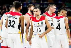 Ismet Akpinar of Germany and other players of Germany after the basketball match between National Teams of Germany and Spain at Day 13 in Round of 16 of the FIBA EuroBasket 2017 at Sinan Erdem Dome in Istanbul, Turkey on September 12, 2017. Photo by Vid Ponikvar / Sportida
