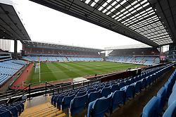 Aston Villa's Manger Tim Sherwood sits in the stands. General view inside Villa Park. - Photo mandatory by-line: Alex James/JMP - Mobile: 07966 386802 - 15/02/2015 - SPORT - Football - Birmingham - Villa Park - Aston Villa v Leicester City - FA Cup - Fifth Round
