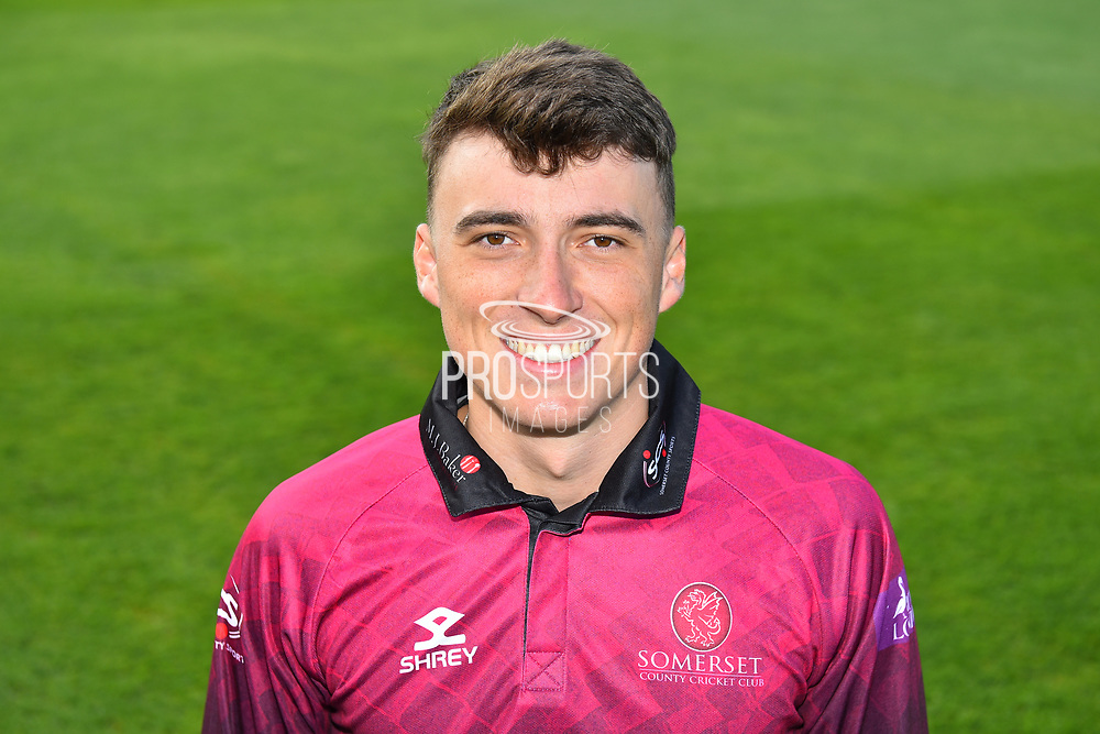 Head shot of Tom Banton in the Royal London One-Day Cup kit during the 2019 media day at Somerset County Cricket Club at the Cooper Associates County Ground, Taunton, United Kingdom on 2 April 2019