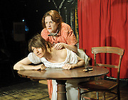 Hundreds and Thousands<br /> by Lou Ramsden <br /> at the Soho Theatre Upstairs studio, London, Great Britain <br /> press photocall<br /> 24th June 2011 <br /> <br /> <br /> Sukie Smith (as Lorna)<br /> Nadine Lewington (as Tiggy)<br /> <br /> <br /> Photograph by Elliott Franks