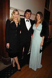 Left to right, DARYL HANNAH, MITCH ANDERSON and the HON.ZOE TRYON   at the 2nd Fortune Forum Summit and Gala Dinner held at the Royal Courts of Justice, The Strand, London on 30th November 2007.<br />
