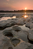 Fossil Beds at Sunset, Falls of the Ohio State Park, Indiana