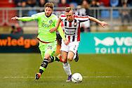 06-03-2016 VOETBAL:WILLEM II-AJAX:TILBURG<br /> Lasse Schone van Ajax in duel met Dico Koppers van Willem II <br /> Foto: Geert van Erven