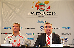 MELBOURNE, AUSTRALIA - Monday, July 22, 2013: Liverpool's manager Brendan Rodgers and Managing Director Ian Ayre during a press conference at the Grant Hyatt Hotel ahead of their preseason friendly against Melbourne Victory. (Pic by David Rawcliffe/Propaganda)