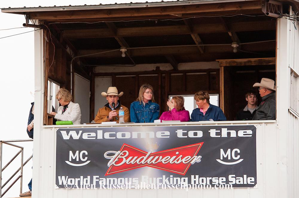 Miles City Bucking Horse Sale, Paul Pauley announcer, rodeo,  MontanaMiles City Bucking Horse Sale, Paul Pauley announcer, rodeo, Montana