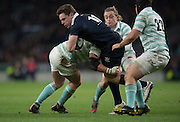 Twickenham, United Kingdom. Oxfords, Tom STILMAN surrounded by a posse of Cambridge player during the 2015 Men's Varsity Match, Oxford vs Cambridge, RFU Twickenham Stadium, England.<br /> <br /> Thursday  10/12/2015<br /> <br /> [Mandatory Credit. Peter SPURRIER/Intersport Images].