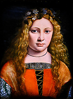 États Unis, Raleigh, North Carolina Museum of Art, Giovanni Antonio Boltraffio, Jeune fille couronnée de fleurs // United States, Raleigh, North Carolina Museum of Art, Giovanni Antonio Boltraffio, Girl crowned with flowers