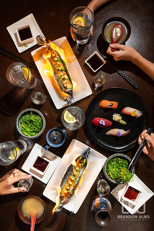Sushi photography at Haruno located in Springfield, Missouri. Photo by Brandon Alms Photography