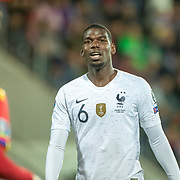 ANDORRA LA VELLA, ANDORRA. June 1.  Paul Pogba #6 of France during the Andorra V France 2020 European Championship Qualifying, Group H match at the Estadi Nacional d'Andorra on June 11th 2019 in Andorra (Photo by Tim Clayton/Corbis via Getty Images)