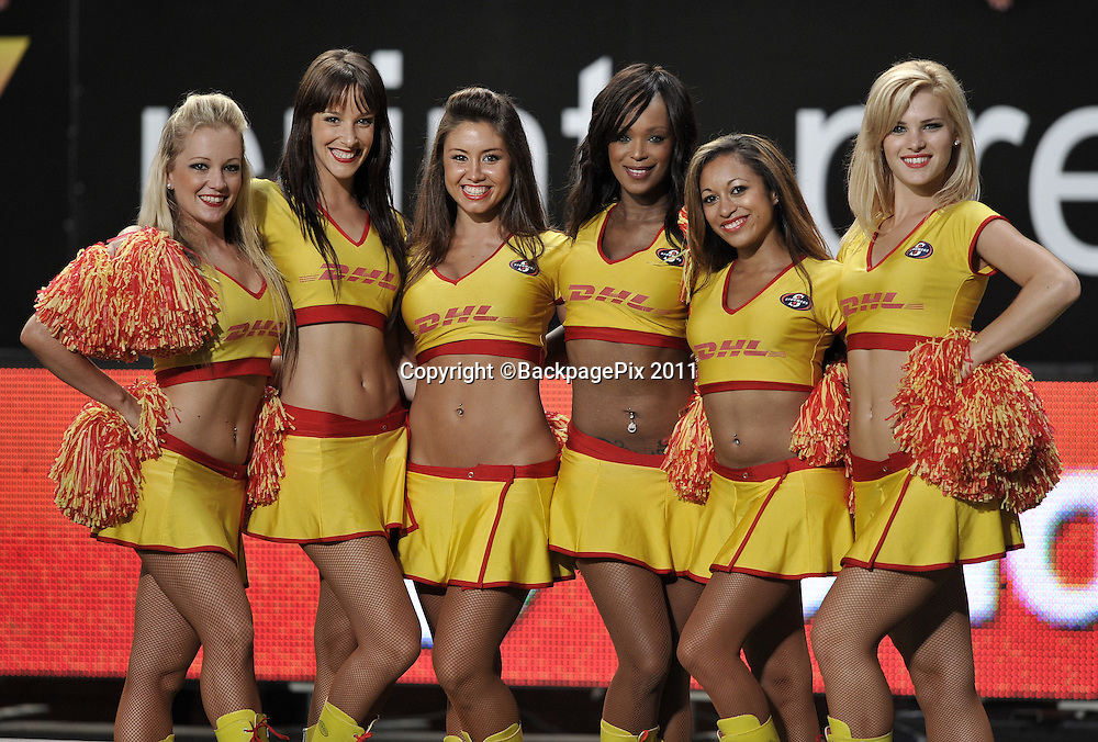 The DHL Dancing girls<br /> <br /> &copy;Ryan Wilkisky/BackpagePix