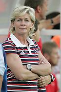 21 August 2008: Germany head coach Silvia Neid (GER). Germany's Women's National Team defeated Japan's Women's National Team 2-0 at the Worker's Stadium in Beijing, China in the Bronze Medal match in the Women's Olympic Football tournament.