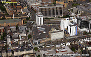 aerial photograph of Capitol Shopping Centre  Cardiff Wales UK