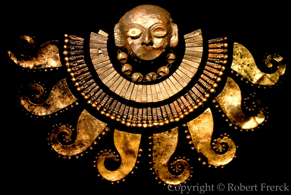 PERU, PREHISPANIC, GOLD Mochica; Lord of Sipan mask