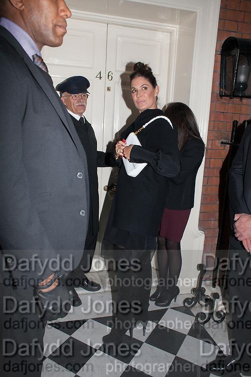 ELIZABETH SALTZMAN, London fundraising dinner for President Barack Obama. <br /> <br /> Mark's Club, 46 Charles Street, London, W1J 5EJ, 19 September 2012