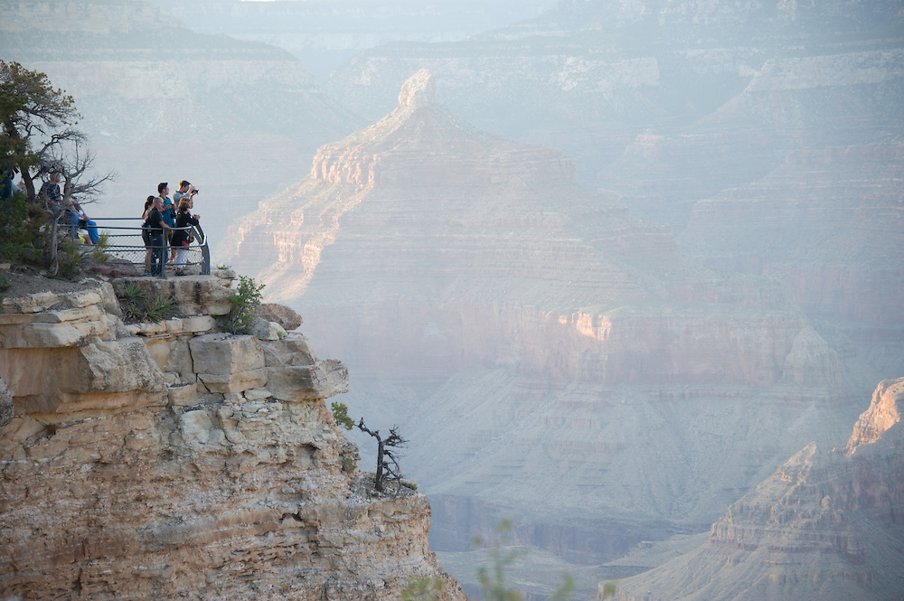 Tourists Observing Grand Canyon