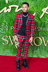 © Licensed to London News Pictures. 04/12/2017. London, UK. LEWIS HAMILTON arrives for The Fashion Awards 2017 held at the Royal Albert Hall. Photo credit: Ray Tang/LNP