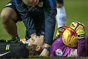 Alex Smithies (QPR) lays injured during the Sky Bet Championship match between Sheffield Wednesday and Queens Park Rangers at Hillsborough, Sheffield, England on 23 February 2016. Photo by Mark P Doherty.