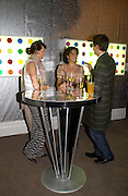 Nicola Hackert, Victoria Gelfand and Philip Haverkampf, Party to celebrate Damien'Hirst's Pharmacy. Sotheby's. 15 October 2004. ONE TIME USE ONLY - DO NOT ARCHIVE  © Copyright Photograph by Dafydd Jones 66 Stockwell Park Rd. London SW9 0DA Tel 020 7733 0108 www.dafjones.com
