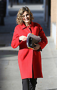 MADRID, SPAIN, 2015, DECEMBER 09 <br /> <br /> Queen Letizia, Arrives to a meeting at the headquarters of the Spanish Federation of rare diseases (Feder), wearing a stylish red coat<br /> ©Exclusivepix Media