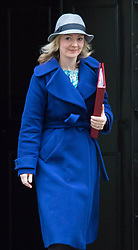 Downing Street, London, November 24th 2015. Secretary of State for Environment, Food and Rural Affairs Liz Truss leaves Downing Street following the weekly cabinet meeting. ///FOR LICENCING CONTACT: paul@pauldaveycreative.co.uk TEL:+44 (0) 7966 016 296 or +44 (0) 20 8969 6875. ©2015 Paul R Davey. All rights reserved.