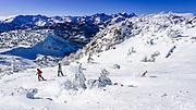 The Minarets from Mammoth Mountain Ski Area, Mammoth Lakes, California USA